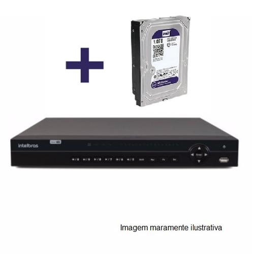 DVR Stand Alone Multi HD  MHDX-1132 - 32 Canais BNC ou 16 BNC + 16 IP - Resolução 1080N HDCVI, HDTVI, AHD, ANALÓGICO C/HD WD Purple 1 TB INTELBRAS