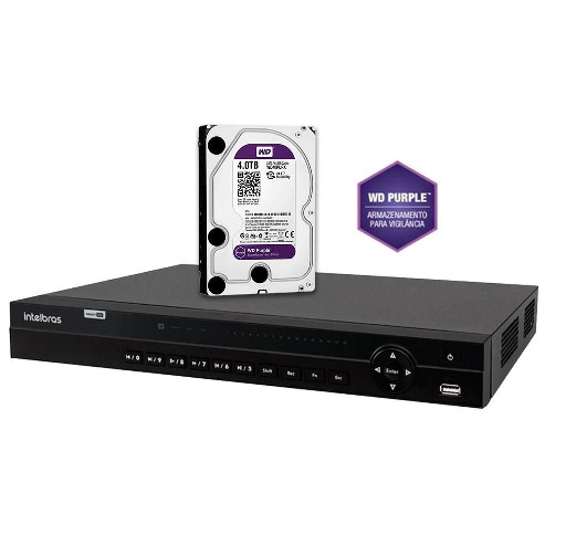 DVR Stand Alone Multi HD  MHDX-1132 - 32 Canais BNC ou 16 BNC + 16 IP - Resolução 1080N HDCVI, HDTVI, AHD, ANALÓGICO C/HD WD Purple 4 TB INTELBRAS