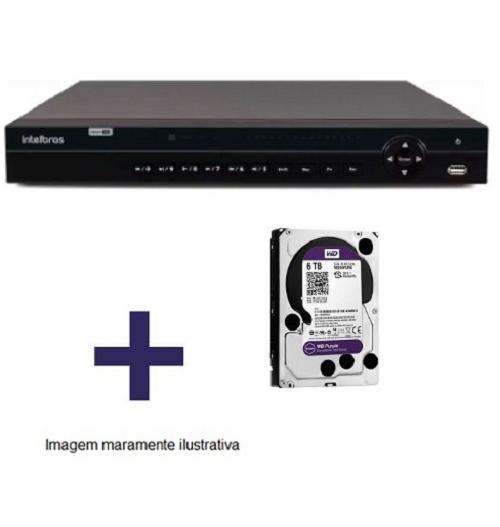 DVR Stand Alone Multi HD  MHDX-1132 - 32 Canais BNC ou 16 BNC + 16 IP - Resolução 1080N HDCVI, HDTVI, AHD, ANALÓGICO C/HD WD Purple 6 TB INTELBRAS