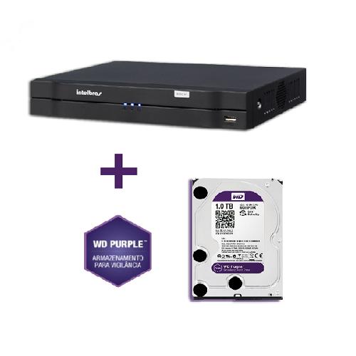 Dvr Stand Alone Tríbrido hdcvi 1008 08 Canais MHDX Com HD WD 1TB Purple Intelbras