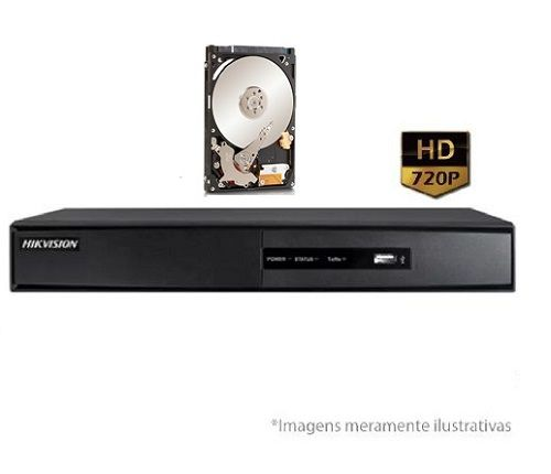 DVR Stand Alone Turbo HD Pentaflex 04 Canais HDTVI 720P DS-7204HGHI-F1 C/HD 1TB HIKVISION
