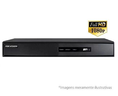 DVR Stand Alone Turbo HD Pentaflex 04 Canais HDTVI Full HD 1080P 3.0 DS-7204HQHI-F1/N - HIKVISION