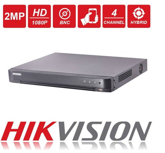 DVR Stand Alone Turbo HD Pentaflex 04 Canais HDTVI Full HD 1080P 3.0 DS-7204HQHI-K1 - HIKVISION