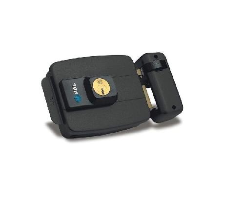 Fechadura Elétrica C90 Dupla Fixo Preta P/Portas ou portões com abertura P/DentroHDL