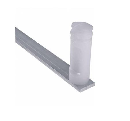 Haste De Aluminio 4 Isoladores Cerca Elétrica Maciça