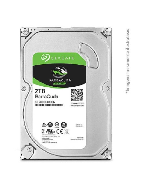 HD 2TB Barracuda Interno (ST2000DM006) Seagate