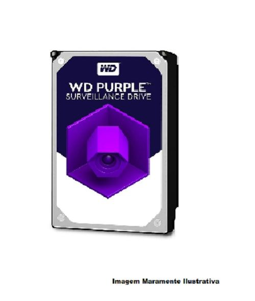 HD Sata  WD Purple 6TB - WD60PURZ Para Vigilancia Western Digital