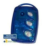 Kit 40 Controles Remoto 3 Teclas Hcs Azul- Portão Linear