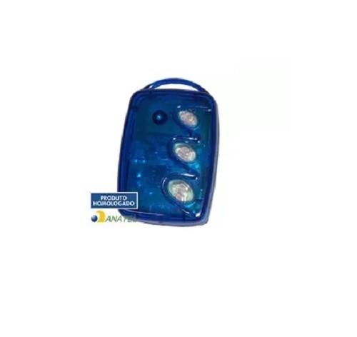 Kit 40 Controles Remoto 3 Teclas Linear Hcs Azul - Portão Linear