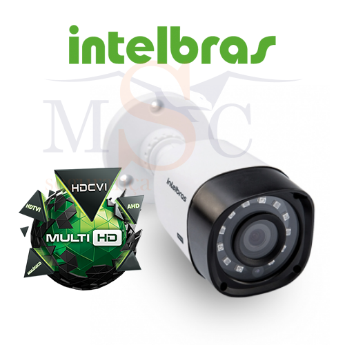 Kit Completo Intelbras Multi HD - DVR 1004 04 canais + 4 Câmeras VHD 1010B + HD 1 TB WD Purple + Acessórios