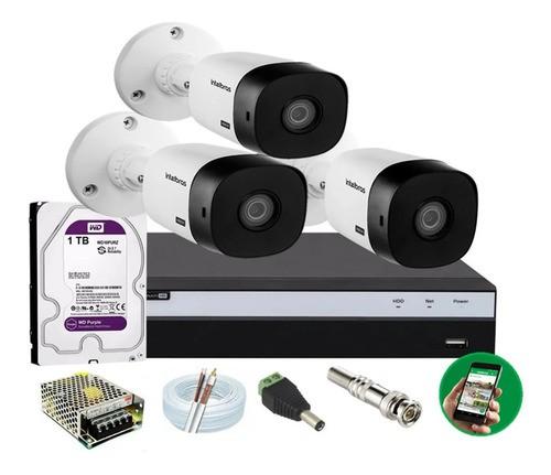 Kit Intelbras 3 Cam Full Hd 1220b 20m 1080p Dvr Mhdx 3104