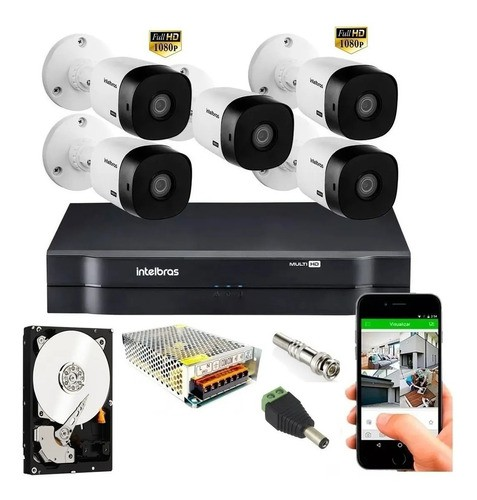 Kit Intelbras 8 Cam Fullhd 1220 1080p Mhdx 1108 C/1tb Purple