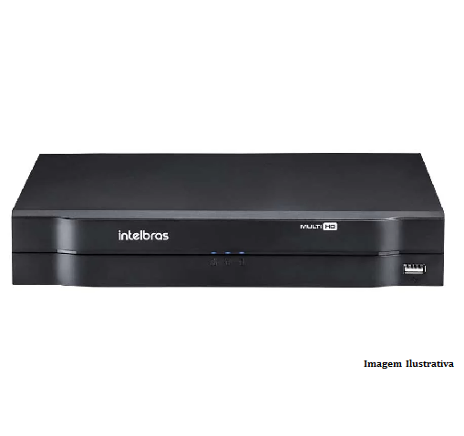 Kit Intelbras 8 câmeras Multi HD VHD 3130B G4 - DVR MHDX 1116 16 canais + HD 1 TB + Acessórios