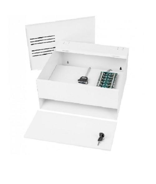 Rack Parede Organizador Compacto  Tríbido 08 Canais Branco Gforce