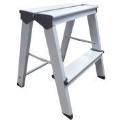 Banqueta Escada Alumínio 2 Degraus Branca