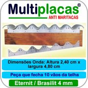 Placa Anti Maritacas Regua Amianto 4 mm 1 metro