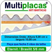 Placa Anti Maritacas Regua Amianto 5 e 6 mm 1 metro