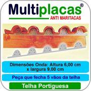 Placa Anti Maritacas Regua Portuguesa 1 metro