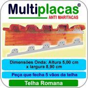 Placa Anti Maritacas Regua Romana 1 metro