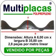 Placa de fechamento para telha Eternit e Brasilit