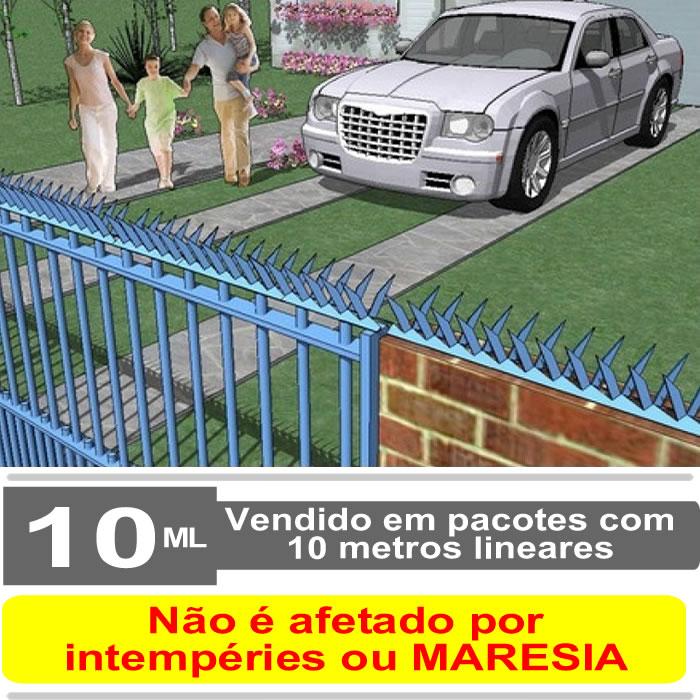 Lança de proteção para muro - Mandíbula Ouriço - Premium 8,00 cm
