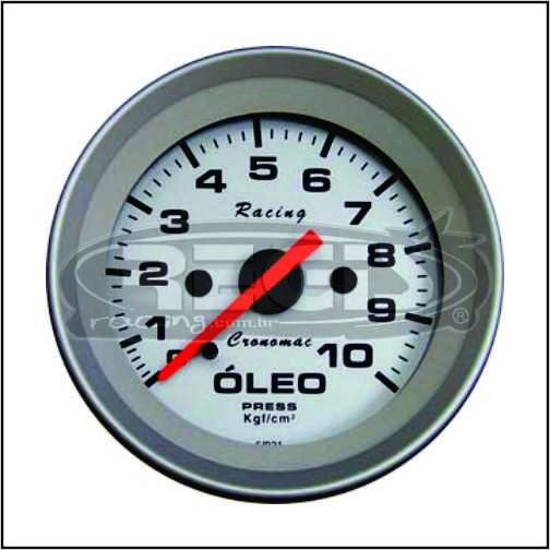 Relogio Pressao de Óleo 10kg Racing cronomac