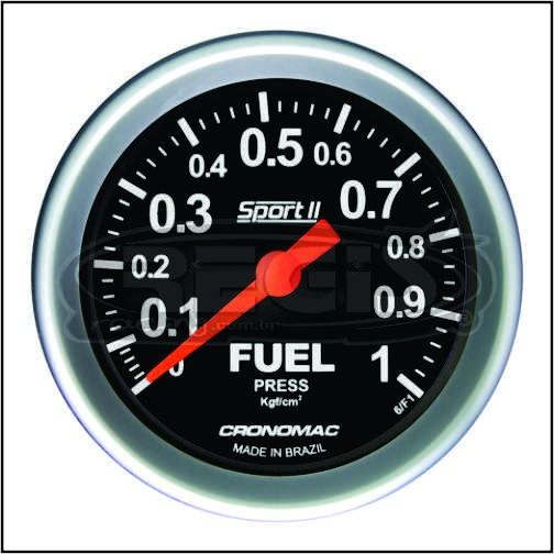 Relogio Pressao de Turbo 1kg Sport 2 60mm cronomac