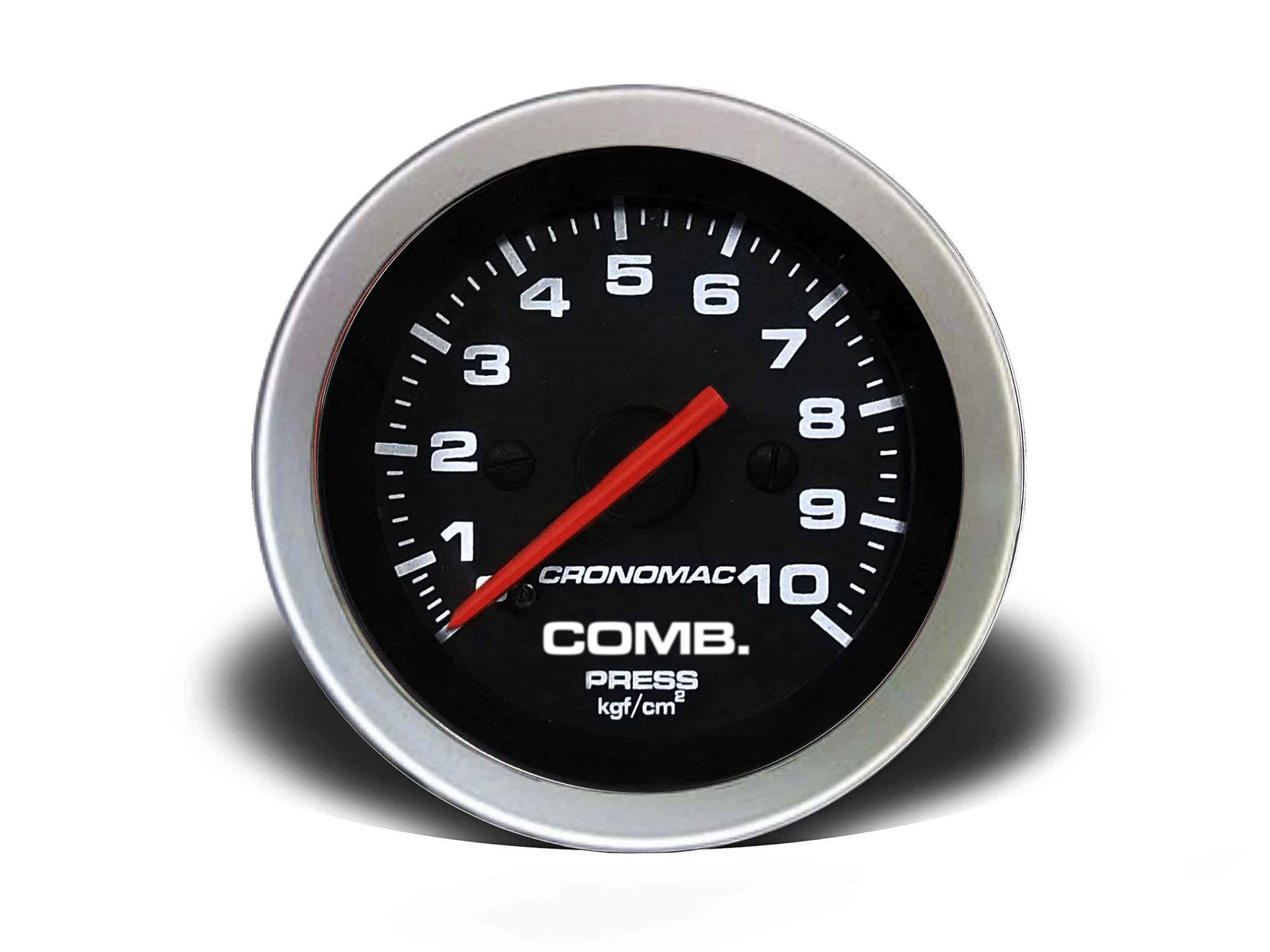 Relogio Pressao de Comb. 10kg Sport 52mm Cronomac