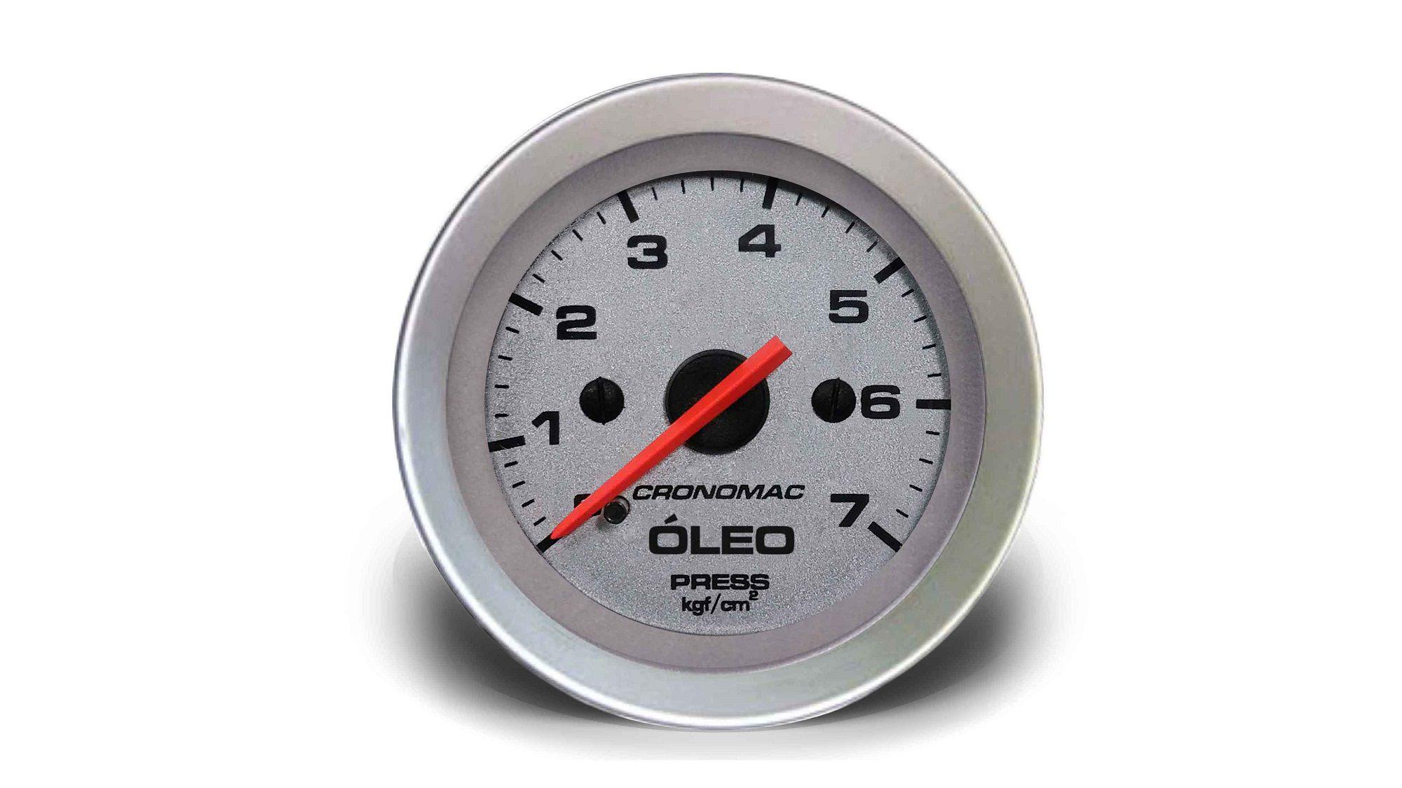 Relogio Pressao de Oleo 7kg Racing 52mm Cronomac