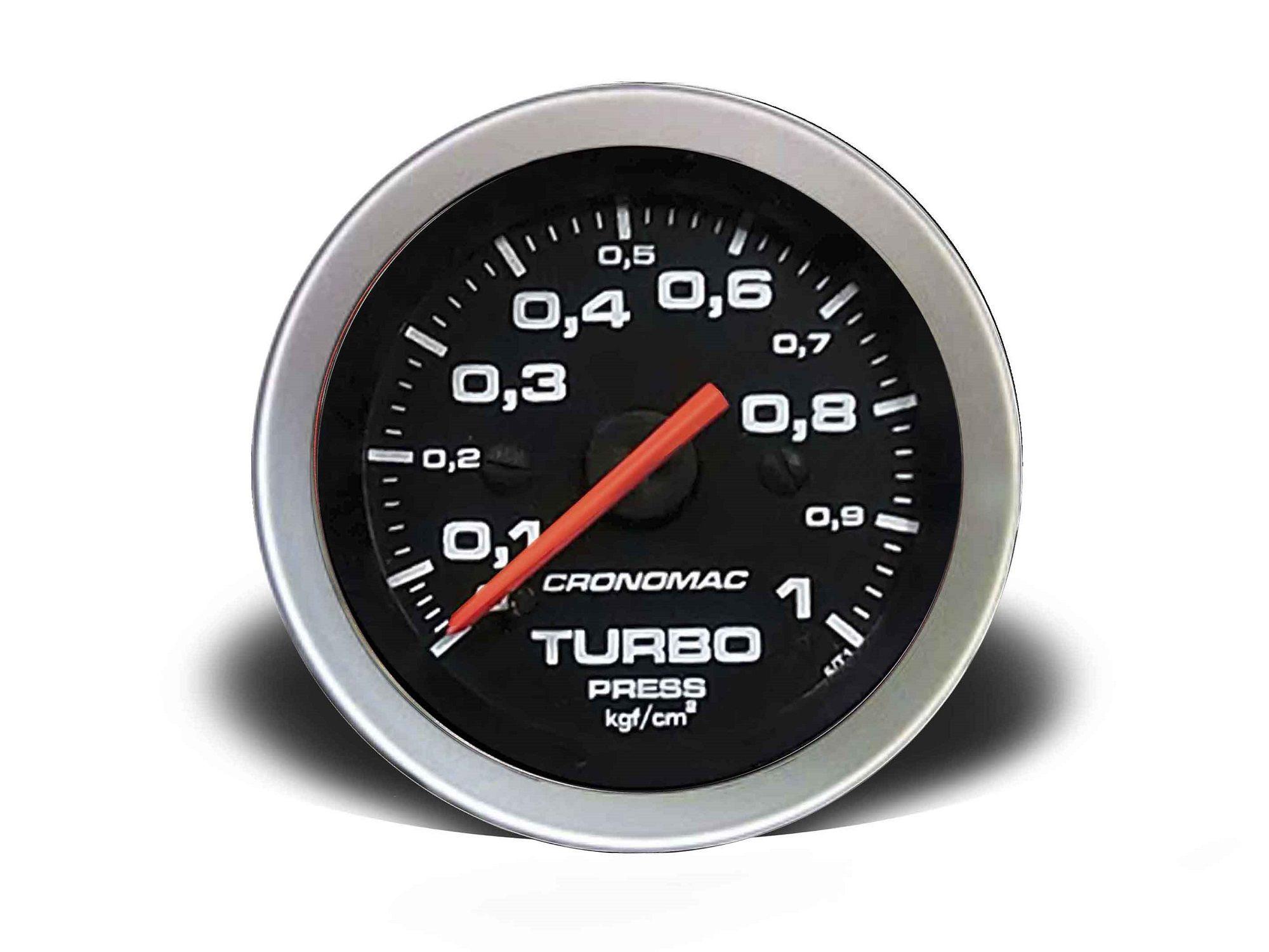 Relogio Pressao de Turbo 1kg Sport 52mm Cronomac