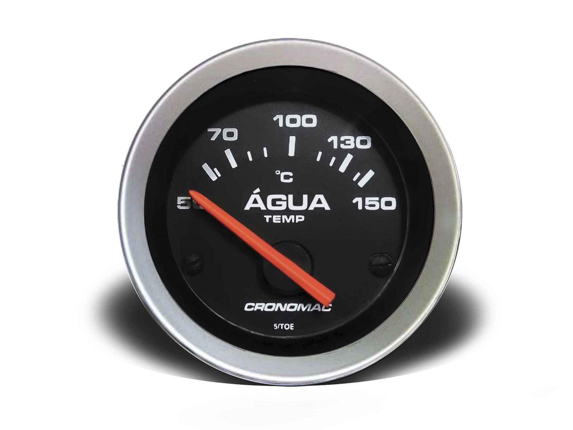Relogio Temperatura Agua Eletrico 52mm Sport Cronomac