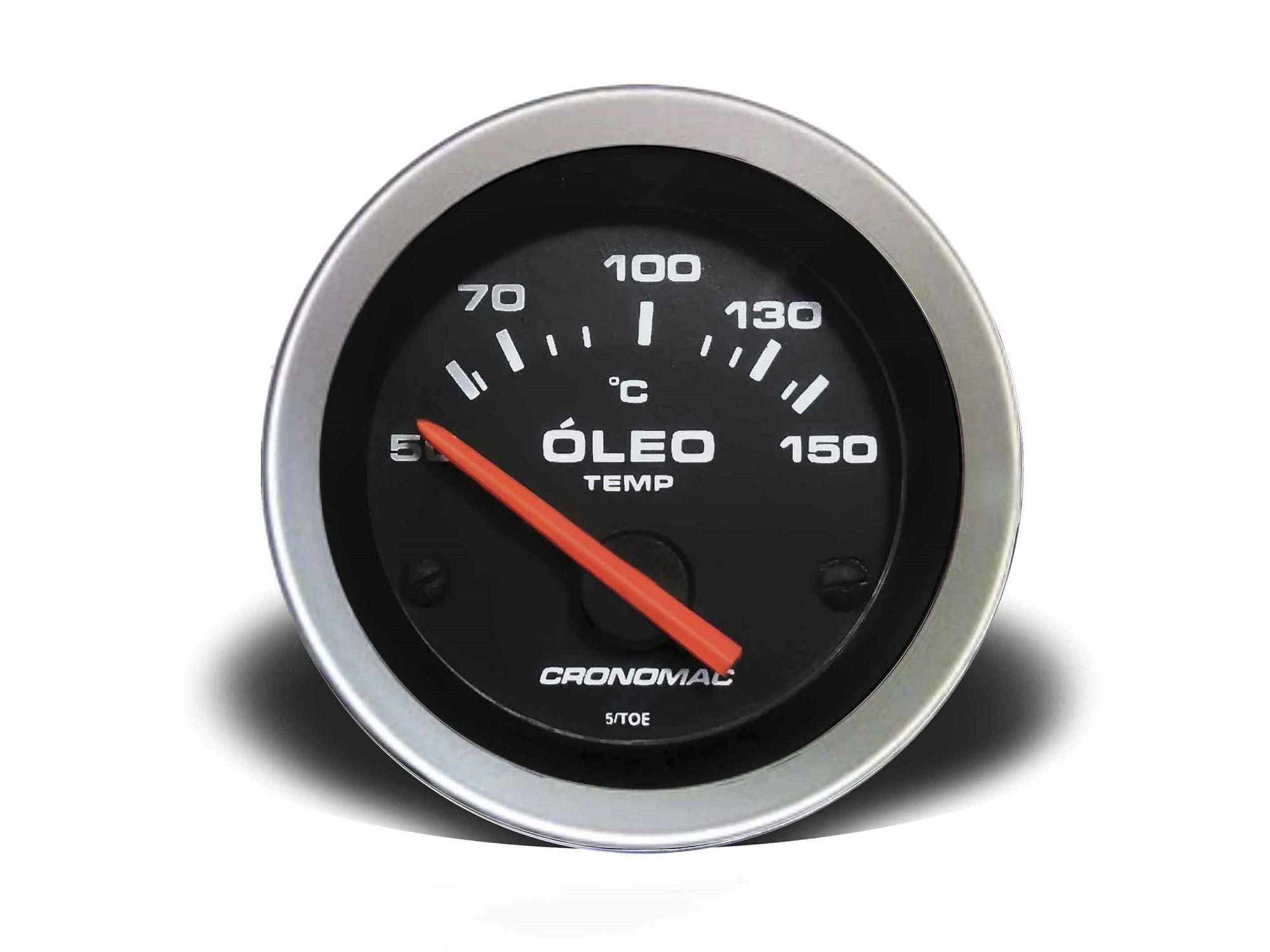 Relogio Temperatura Oleo Eletrico 52mm Sport Cronomac