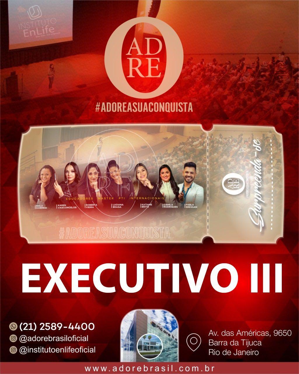 INGRESSO EXECUTIVO III PARA O EVENTO #ADOREASUACONQUISTA
