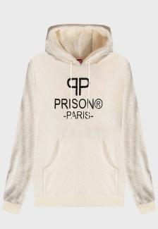 Blusa Prison Off-White sheepskin Dobby