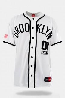 Camisa de Baseball Prison Brooklyn 00 Branca