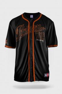 Camisa de Baseball Prison Orange NYC 72 Preta