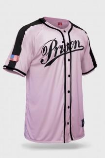 Camisa de Baseball Prison Streetwear Premium Pink