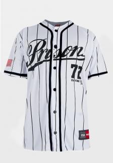 Camisa de Baseball Prison Streetwear Striped New York