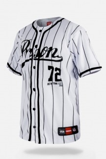 Camisa de Baseball Prison Streetwear Striped New York