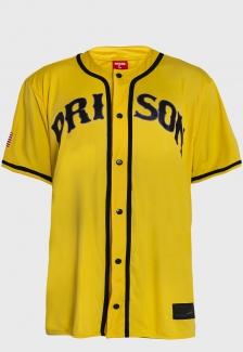Camisa de Baseball Yellow Yorks Prison