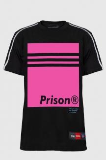 Camisa Streetwear Prison Pink Plate Com Viés