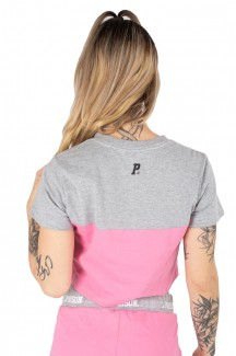 Camiseta cropped nyc Pink