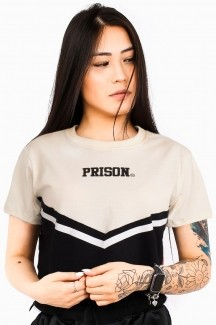 Camiseta Cropped Prison Fancy Off White