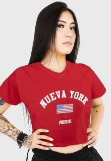 Cropped Prison Nueva York Vermelha