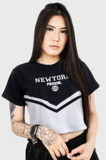Camiseta Cropped Prison New York Preta