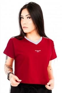 Camiseta Cropped Prison NYC Vermelha