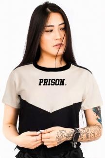 Camiseta Cropped Prison Off-White