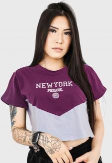 Camiseta Cropped Prison Sunset Purple