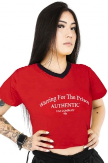 Camiseta Cropped Prison  Warring For The Prison Vermelho