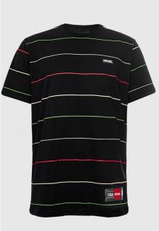 Camiseta Listrada Bordada Prison Colors